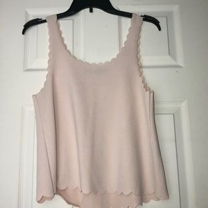 Scalloped Tank Top